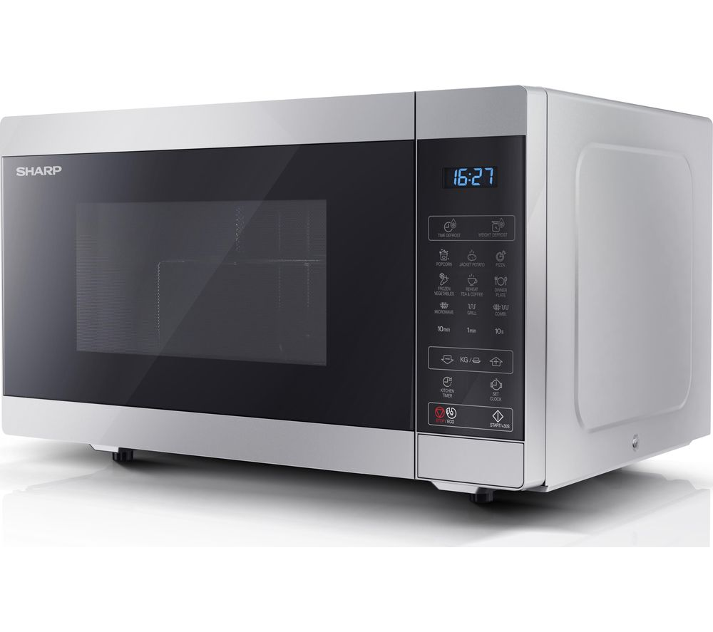 SHARP YC-MG51U-S Microwave with Grill - Silver, Silver