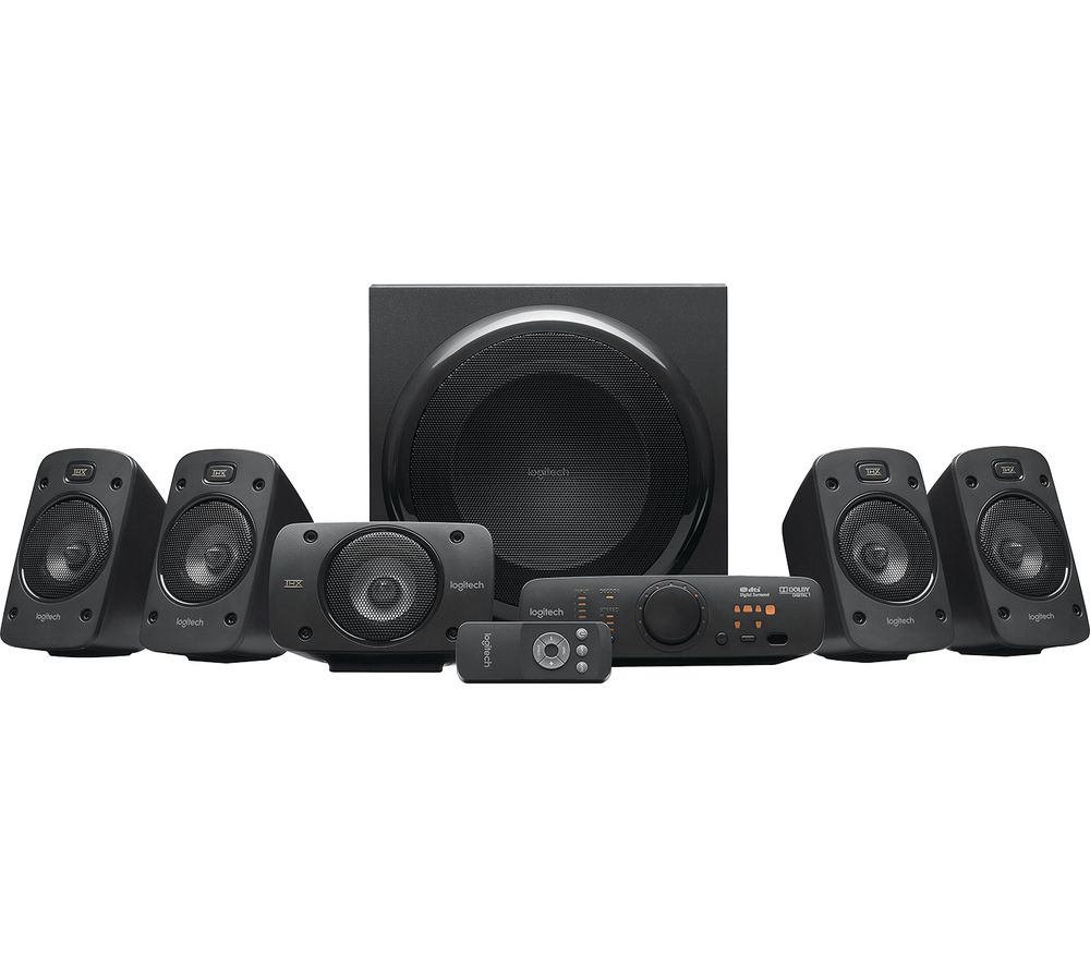 LOGITECH Z906 5.1 PC Speakers, Black