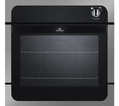 NW601G Gas Oven - Black & Stainless Steel