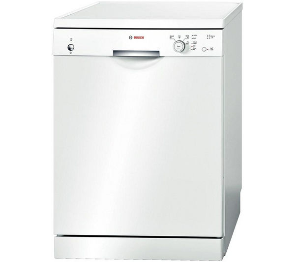 BOSCH SMS40T32GB Full-size Dishwasher - White + WAB24161GB Washing Machine - White
