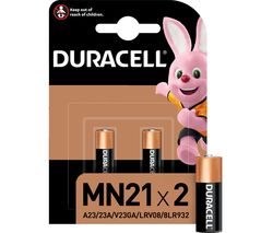 DURACELL A23/K23/LRV08 MN21 Batteries - Pack of 2