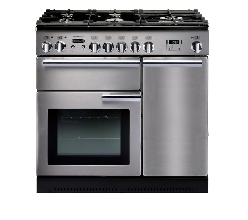 RANGEMASTER Professional+ 90 Gas Range Cooker - Stainless Steel & Chrome