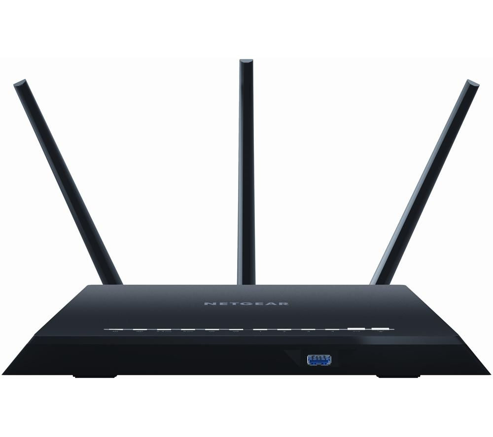 NETGEAR Nighthawk R7000 WiFi Cable & Fibre Router - AC 1900, Dual-band