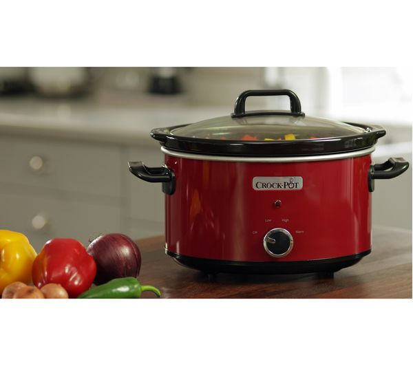 buy crock pot scv400rd slow cooker red free delivery. Black Bedroom Furniture Sets. Home Design Ideas