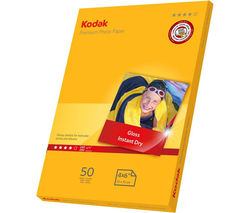 KODAK Premium 100 x 150 mm Photo Paper - 50 Sheets