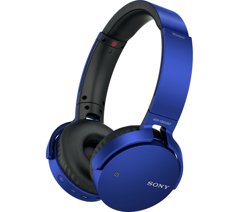SONY MDR-XB650BTL EXTRA BASS Wireless Bluetooth Headphones - Blue