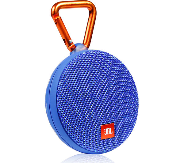 buy jbl clip 2 portable bluetooth wireless speaker blue free delivery currys. Black Bedroom Furniture Sets. Home Design Ideas