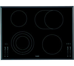 AEG HK764070FB Electric Ceramic Hob - Black Best Price, Cheapest Prices