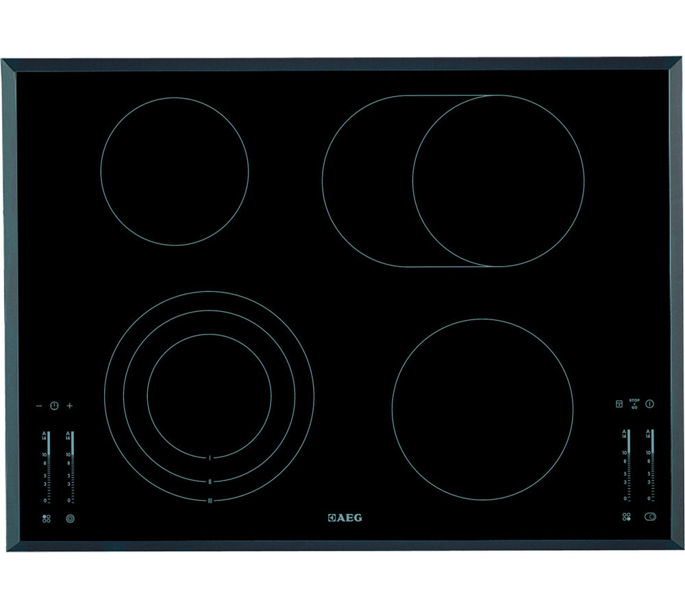 AEG HK764070FB Electric Ceramic Hob - Black, Black
