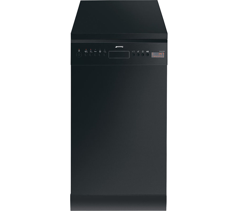 SMEG D4B-1 Slimline Dishwasher - Black