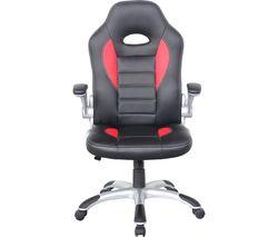 ALPHASON Talladega Faux-Leather Tilting Executive Chair - Black & Red