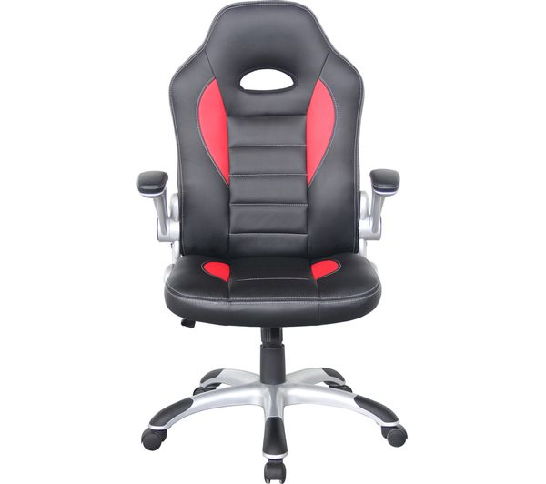 Alphason Talladega Faux Leather Tilting Executive Chair Black Red