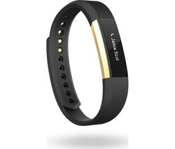 FITBIT Alta - Small, Gold & Black