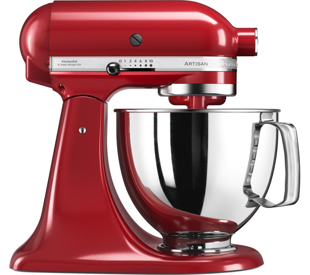 buy kitchenaid artisan 5ksm125ber stand mixer empire red free delivery currys. Black Bedroom Furniture Sets. Home Design Ideas