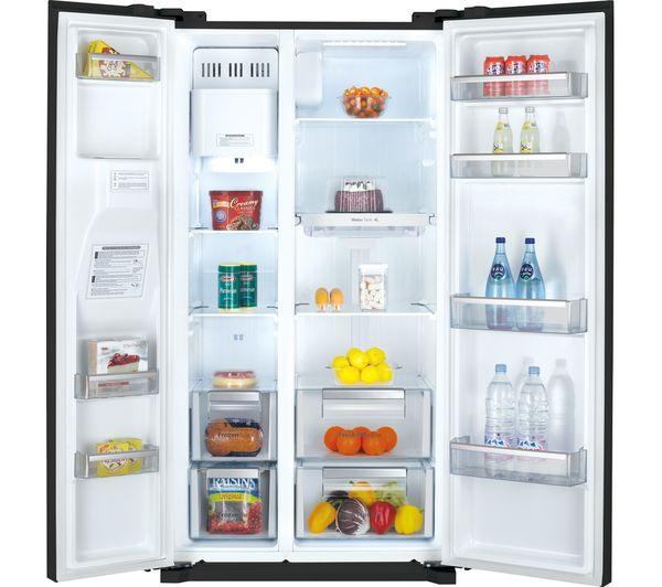 DRQ29NPEB - DAEWOO DRQ29NPEB American-Style Fridge Freezer - Black