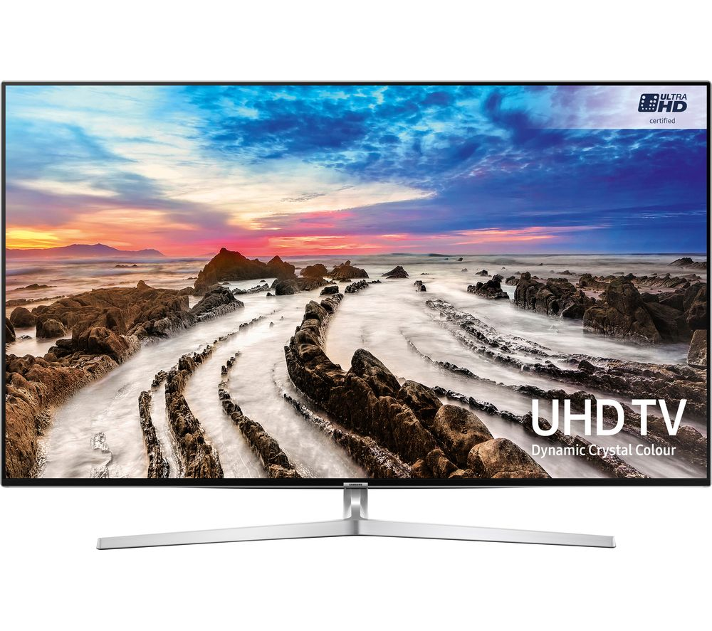 "SAMSUNG UE55MU8000 55"" Smart 4K Ultra HD HDR LED TV + SFLEZ14 Medium to Large Fixed TV Bracket"