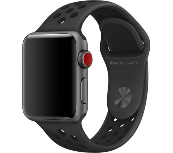 Buy APPLE Watch 38 mm Nike Sport Band - Anthracite & Black