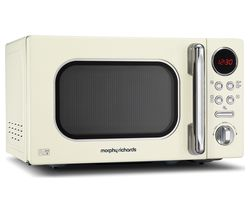 MORPHY RICHARDS Accents 511501 Compact Solo Microwave - Cream