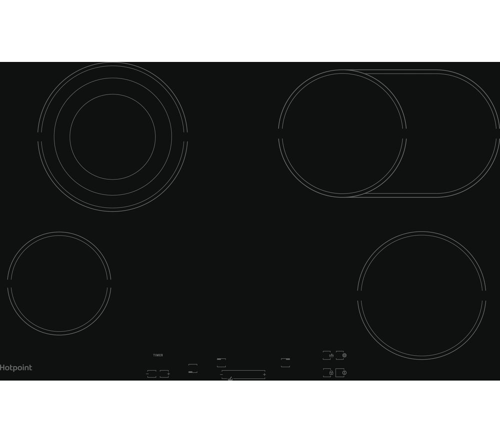 HOTPOINT HR 724 B H Electric Ceramic Hob – Black, Black