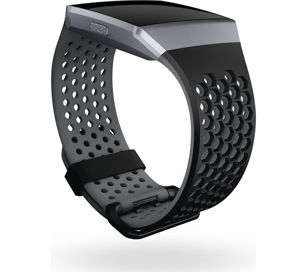 FITBIT Ionic Sport Band - Black & Grey, Small