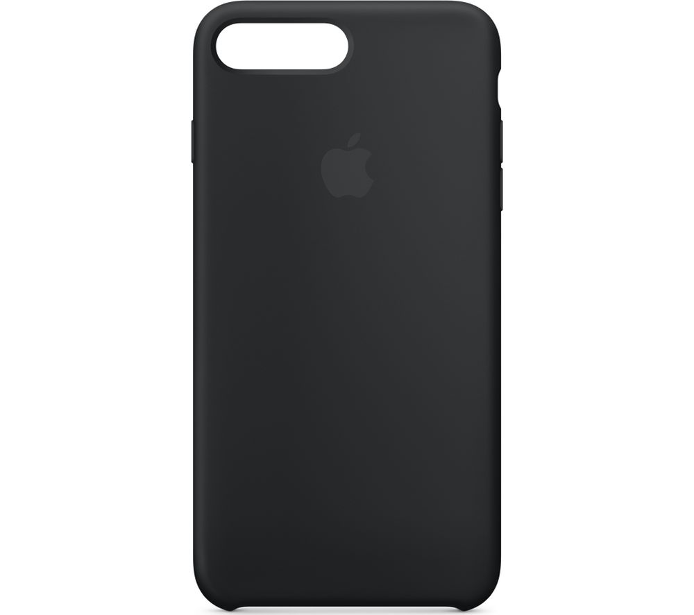 APPLE iPhone 8 & 7 Plus Silicone Case - Black, Black cheapest retail price