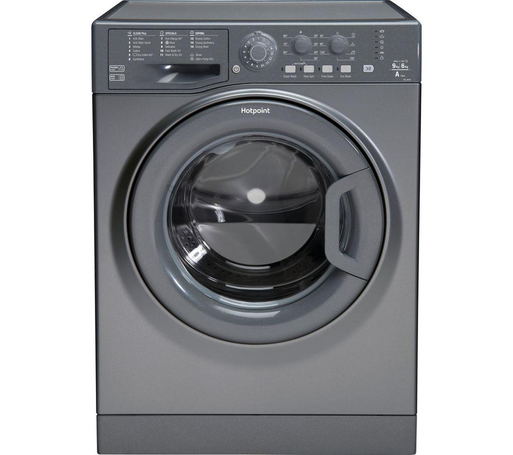 HOTPOINT Futura FDL 9640 G 9 kg Washer Dryer - Graphite