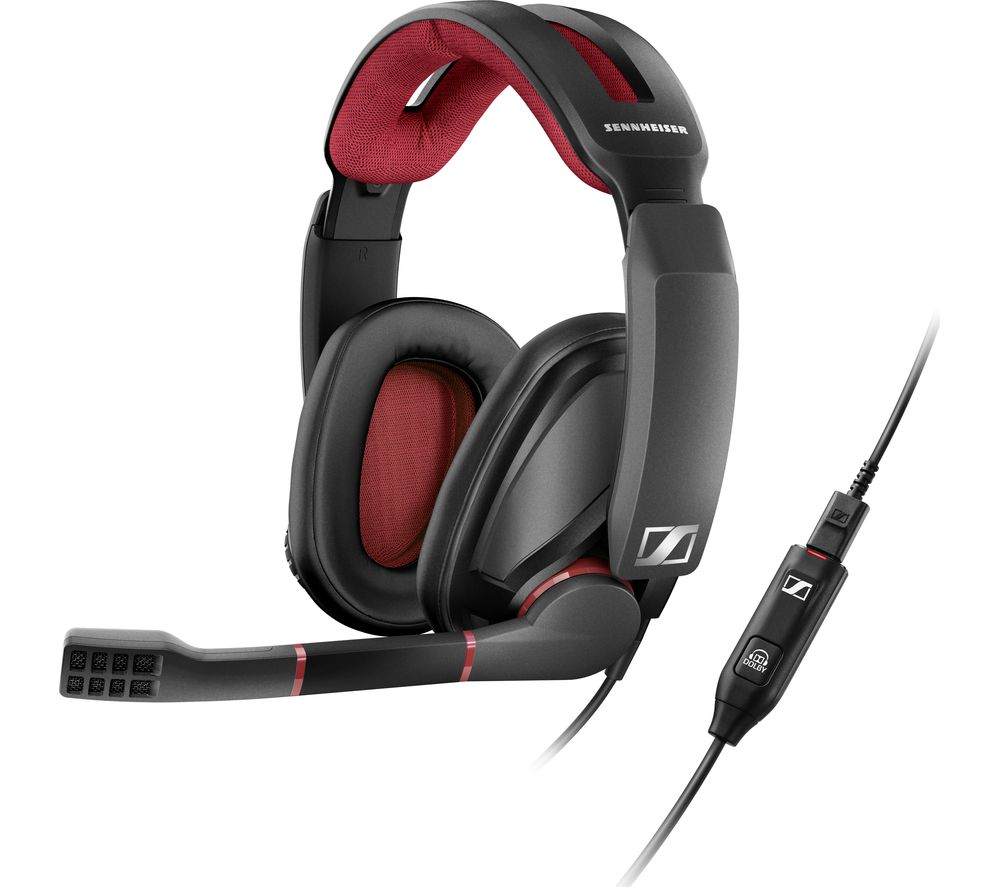 buy sennheiser gsp 350 7 1 gaming headset black red. Black Bedroom Furniture Sets. Home Design Ideas