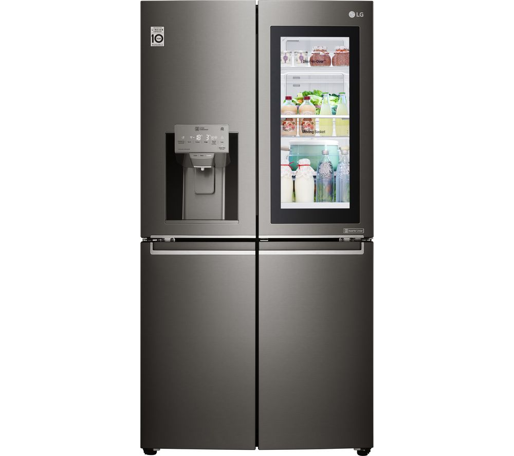 LG GMX936SBHV American-Style Smart Fridge Freezer - Black Steel