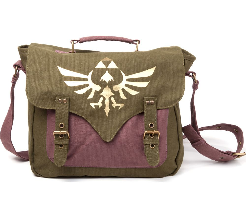 NINTENDO Zelda Skyward Sword Canvas Messenger Bag - Green