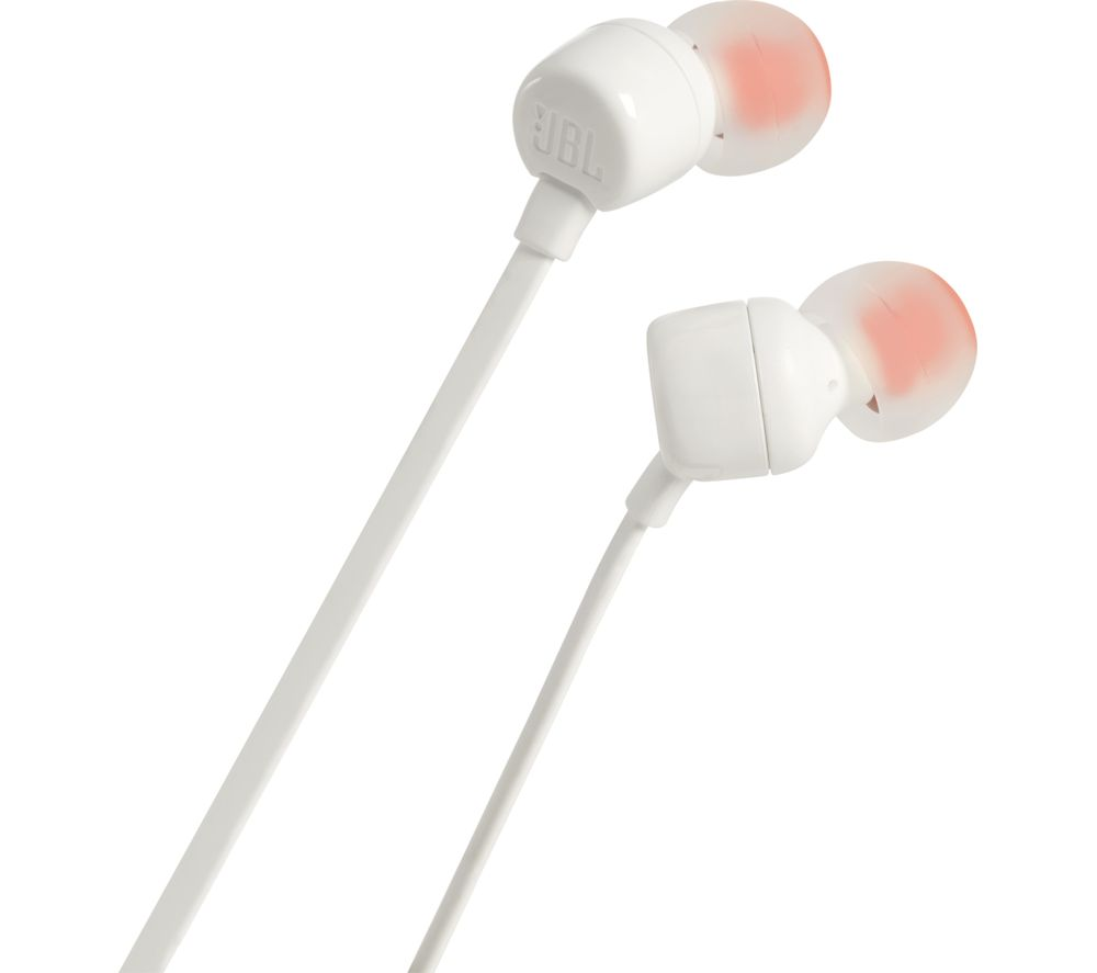 JBL T110 Headphones - White