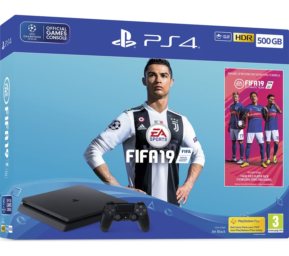 PlayStation 4 with FIFA 19 - 500 GB
