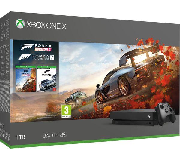 MICROSOFT Xbox One X, Forza Horizon 4, Forza Motorsport 7, Tekken 7 &  Project Cars 2 Bundle