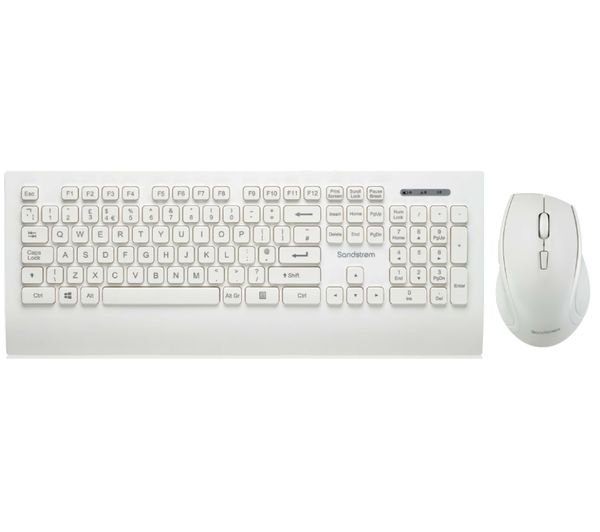Image of SANDSTROM SDESWLW19 Wireless Keyboard & Mouse Set - White