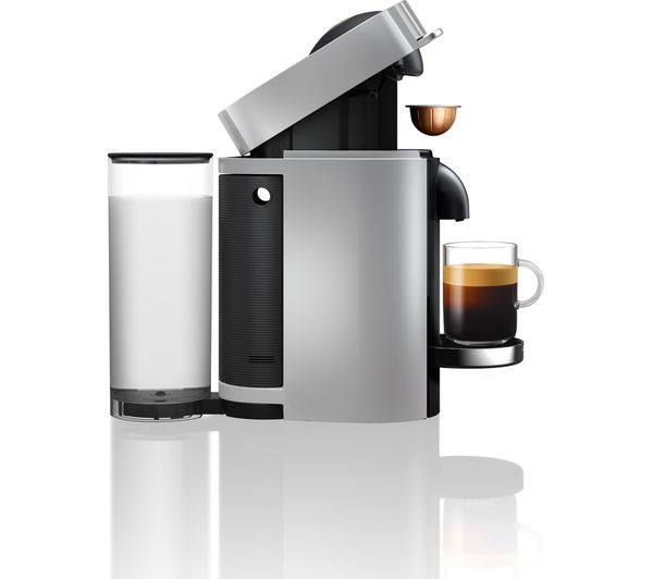 buy nespresso by magimix vertuo plus coffee machine with aeroccino silver free delivery currys. Black Bedroom Furniture Sets. Home Design Ideas