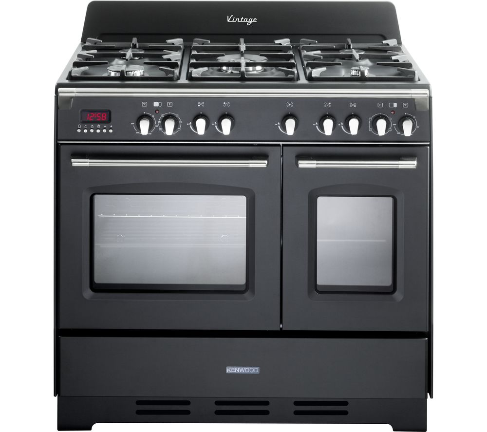 KENWOOD CK425-AN-1 90 cm Dual Fuel Range Cooker - Anthracite & Stainless Steel