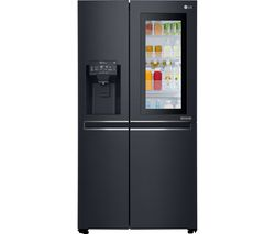 LG GSX960MCVZ American-Style Smart Fridge Freezer - Black Best Price, Cheapest Prices