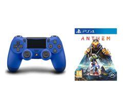 SONY DualShock 4 V2 Wireless Controller & Anthem Bundle - Blue