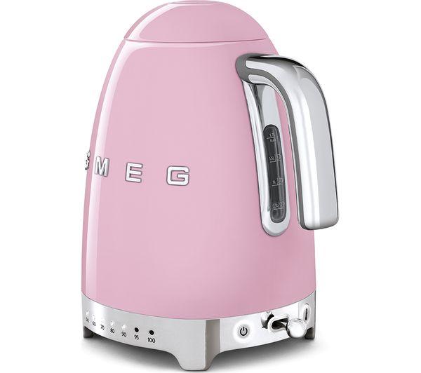 Smeg Pastel Pink Kettle and Toaster Bundle