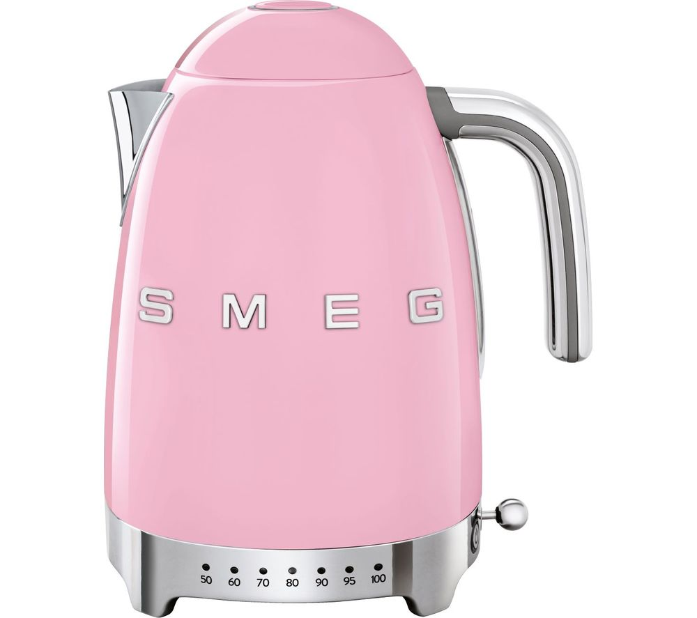 50s Retro Style KLF04PKUK Jug Kettle - Pink, Pink