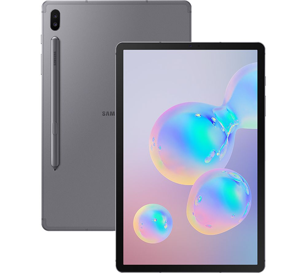 "SAMSUNG Galaxy Tab S6 10.5"" Tablet - 128 GB, Mountain Grey + G105TOR18 10.5"" Tablet Folio Case - Black"