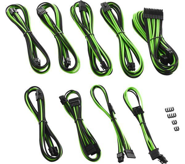 CABLEMOD PRO ModMesh RT-Series ASUS ROG/Seasonic Cable Kit - Green & Black, Green
