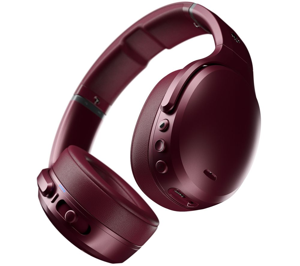 Image of SKULLCANDY Crusher ANC Wireless Bluetooth Noise-Cancelling Headphones - Moab Red, Red