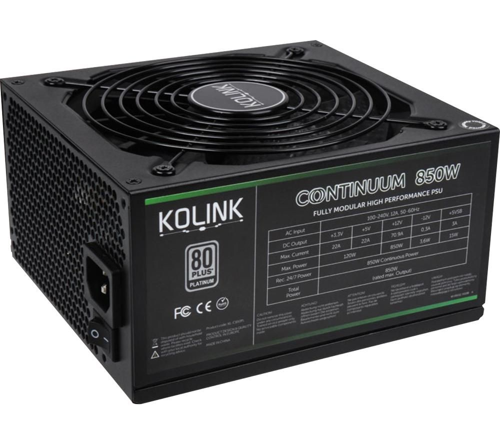 Image of Continuum KL-C850PL ATX Modular PSU - 850 W
