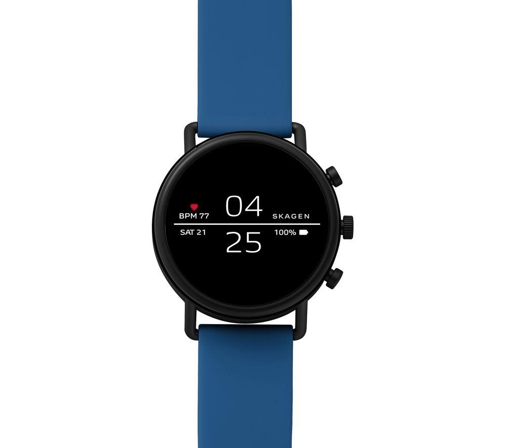 Image of SKAGEN Falster 2 Smartwatch - Blue, Silicone Strap, Blue