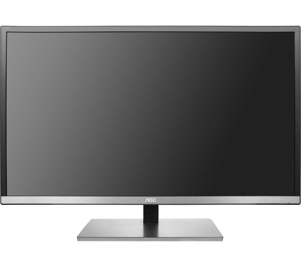 "Image of AOC U3277FWQ 4K Ultra HD 32"" A-MVA Monitor - Black/Silver, Black"