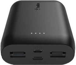 F8J267btBLK Portable Power Bank - Black