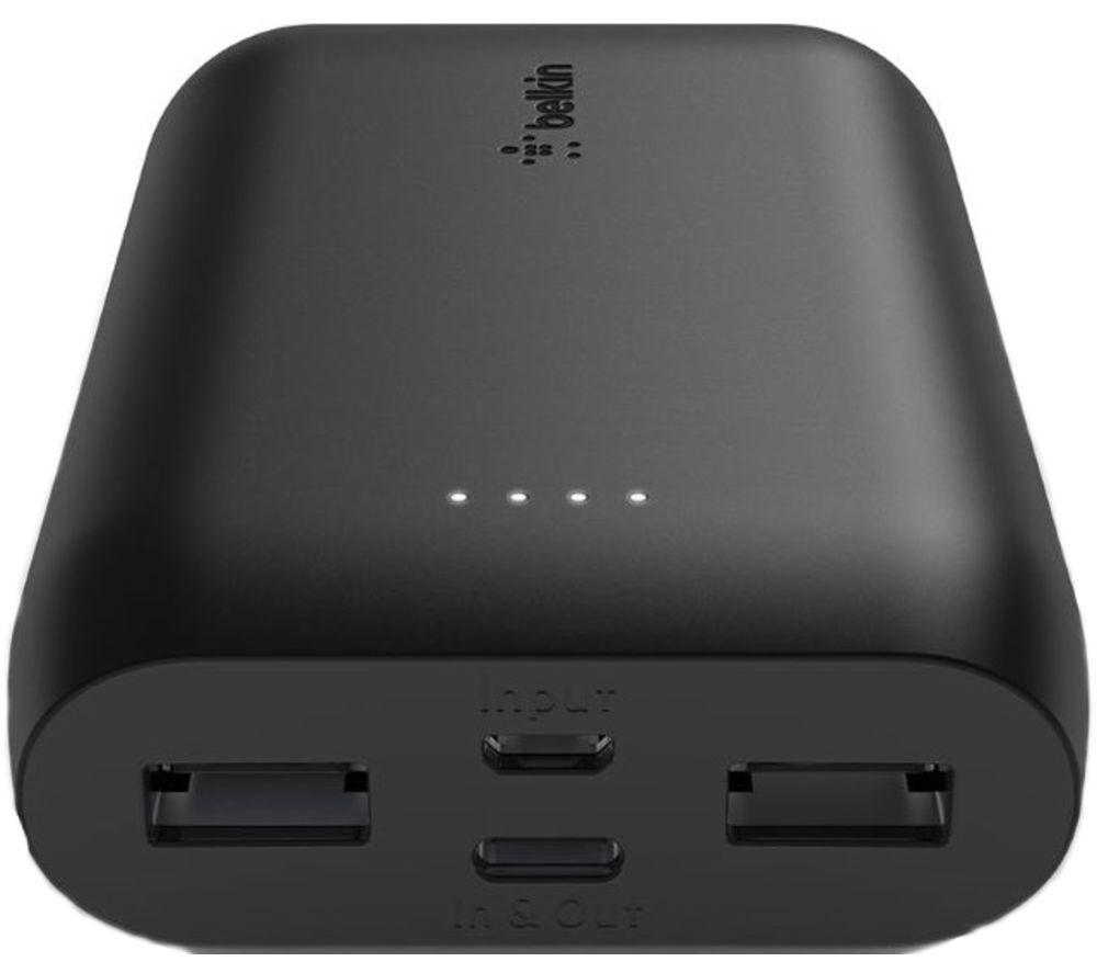 BELKIN F8J267btBLK 10000 mAh Portable Power Bank - Black