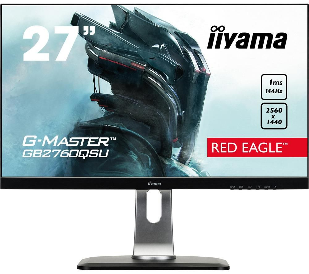 "Image of IIYAMA G-MASTER Red Eagle GB2760 Quad HD 27"" TN LCD Gaming Monitor - Black, Red"