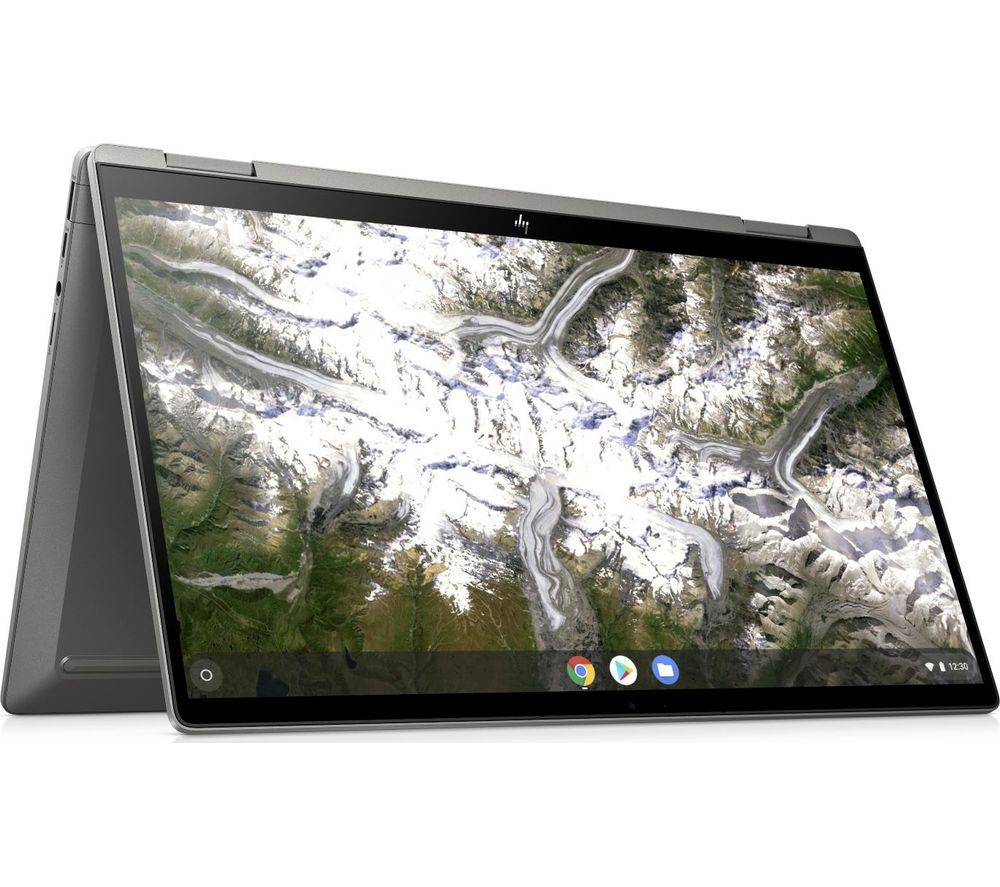 "Image of HP x360 14"" 2 in 1 Chromebook - Intel®Core i3, 128 GB eMMC, Silver, Silver"