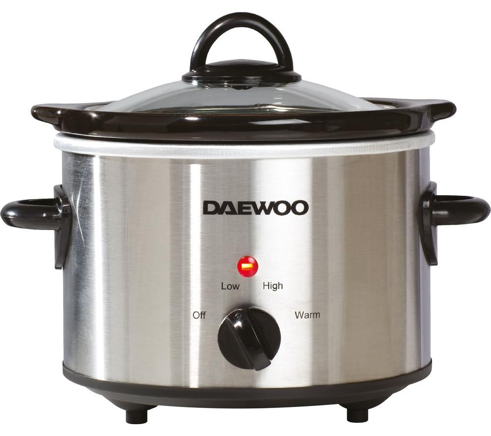 DAEWOO SDA1363 Slow Cooker - Stainless Steel